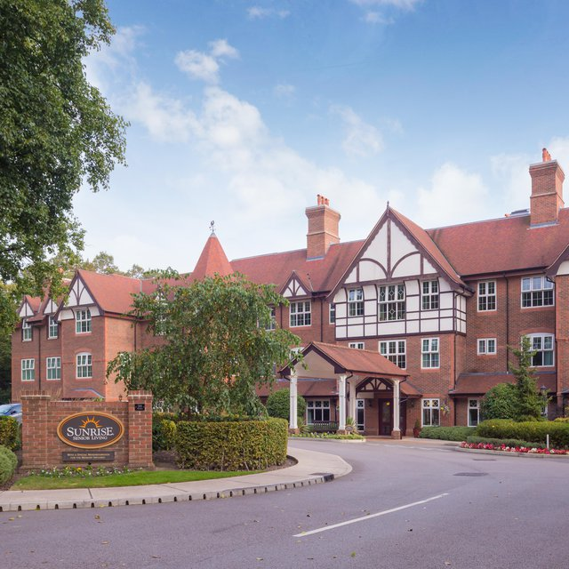 Sunrise of Hale Barns Care Home in Altrincham front exterior