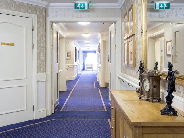 Hallway in Cepen Lodge Care Home