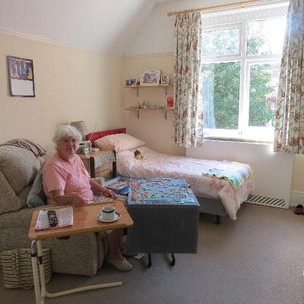 Hartfield House Care Home in Eastbourne Bedroom
