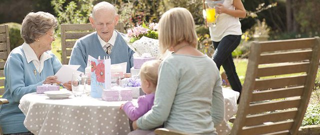 Helping Hands Home Care in Wokingham tea on the garden table
