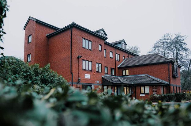 Housman Court Care Home in Bromsgrove, Worcestershire exterior of home