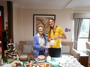 Hunter's Care Home Cirencester Barchester Staff and Resident