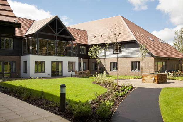 Hurstwood View Nursing Home in Uckfield exterior of the home