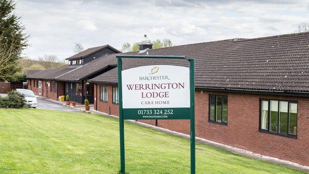Werrington Lodge Nursing Home in Peterborough exterior of home