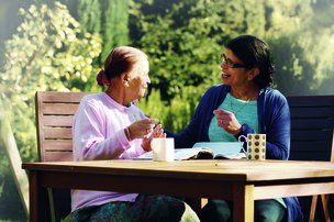Right at Home - West Midlands Home Care in Birmingham elderly lady with carer