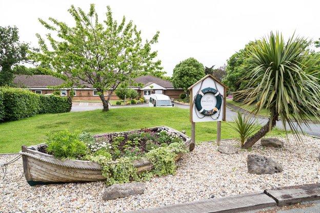 Orchard House Nursing Home in Newport exterior garden