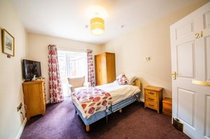 Bedroom in St Andrew's Nursing and Care Home