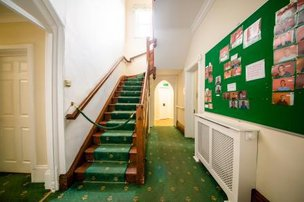 Staircase in St Andrew's Nursing and Care Home