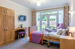 Invicta Court Care Home Weavering Bedroom