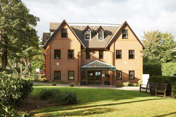 Larkland House Nursing Home in Ascot rear exterior of property with garden