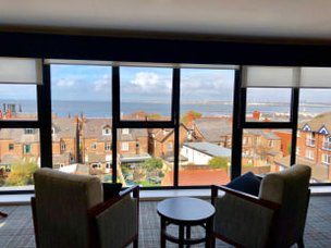 Lighthouse lodge Care Home New Brighton Merseyside Lounge view