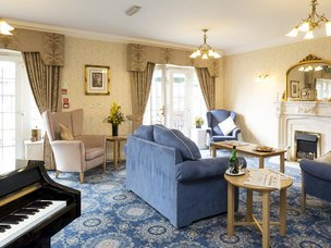 Lounge at Hall Park Care Home
