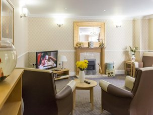Lounge at Cookridge Court Care Home