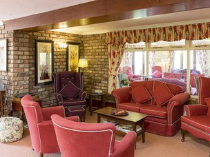 Lounge at Crabwall Hall Care Home