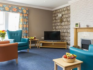 Lounge in Scarborough Hall Care Home