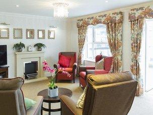 Lounge at Boroughbridge Manor Care Home