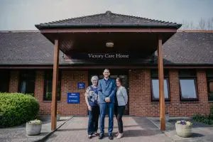 Victory Care Home - Exterior with Staff