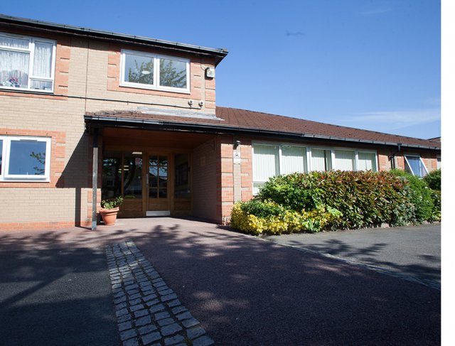 Manor House Care Home in Birmingham exterior of home