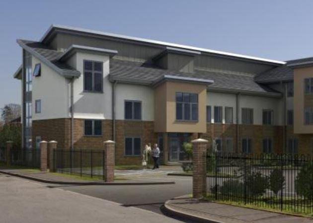 Clarendon Court Nursing Home in Nantwich exterior of home