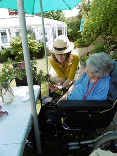 Melrose Care Home Flower Arranging