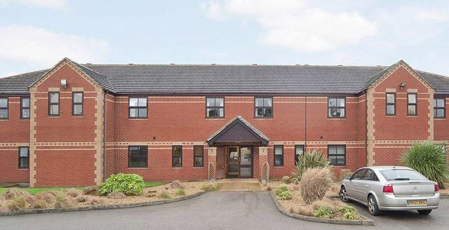 Millfield Nursing and Residential Home in Chesterfield exterior of the home