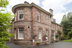 Muirton House Nursing Home in Blairgowrie exterior of home