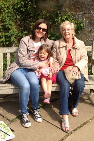 Hazel Ashby's daughter Karen and granddaugher Maddie