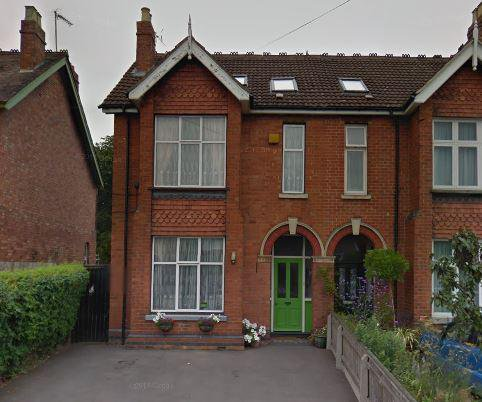 Chestnut Residential Care Home in Gloucester front exterior of home