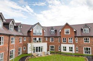 Blenheim Court Nursing Home in Liss exterior of property