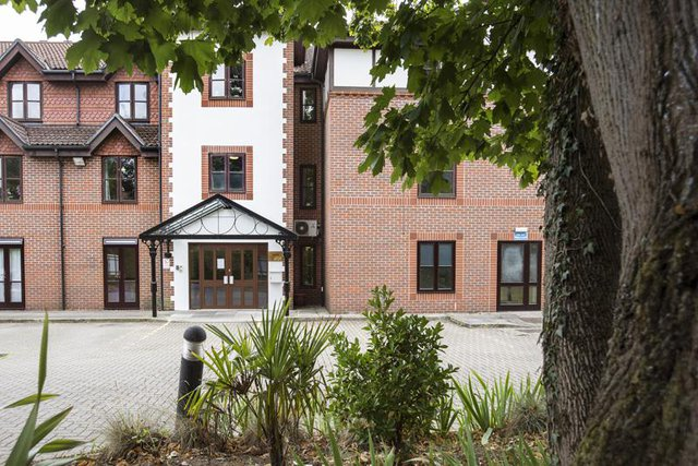 Norfolk House Nursing Home in Weybridge exterior of property
