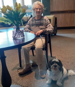 TrustedCare Success Story: Pat Moves into Elton House Care Home With Her Dog, Bobby