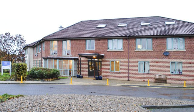 Ashfield Court Care Home in Newcastle front exterior of home