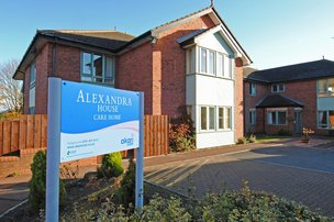 Alexandra House Care Home in Gateshead front exterior of home