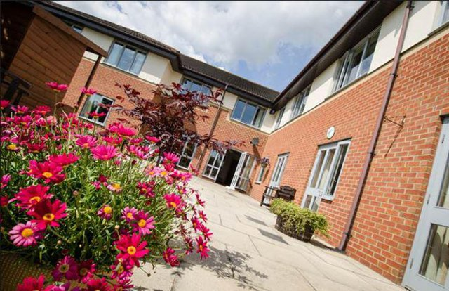 Piper Court Nursing Home in Stockton-on-Tees rear exterior of building with courtyard