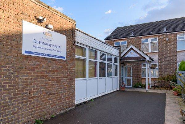 Queensway House Care Home in Hemel Hempstead exterior of home