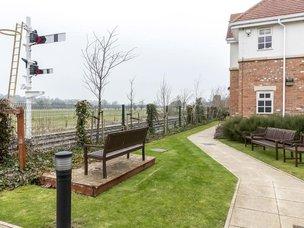 Rear Garden at Brampton View Care Home