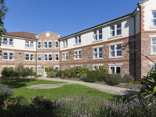 Rear Garden of Scarborough Hall Care Home