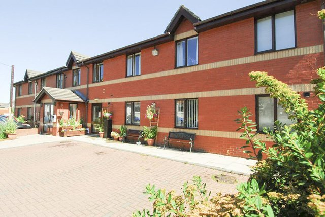 Red Brick House Nursing Home in Prudhoe front exterior of building