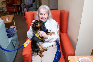 Dog Therapy in St Andrew's Nursing and Care Home
