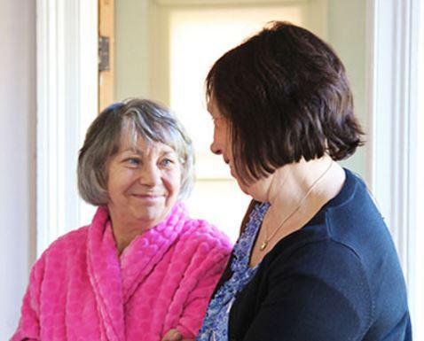 Right at Home Hereford Home Care in Hereford elderly lady with carer