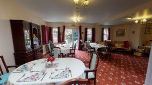 Saffrons Care Home in Eastbourne BN21 1D Dinning Room 2U