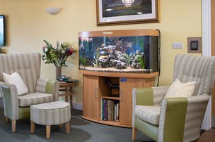 Wessex House Somerset Care Seating with fish tank