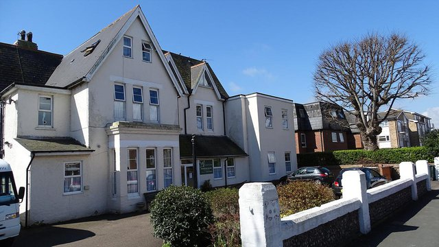 Shandon House Care Home in Eastbourne exterior of home