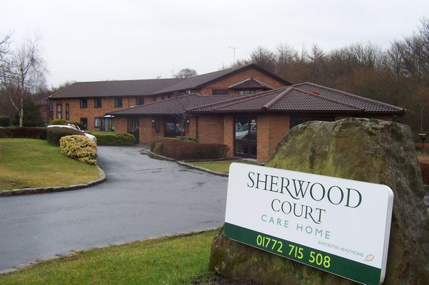 Sherwood Court Nursing Home in Preston exterior of home