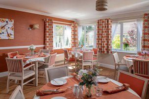 Calway House Somerset Care Dining Room