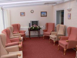 Sunrise nursing home Felixstowe IP11 7HQ TV lounge