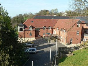 The Hollies Nursing Home in Dursley exterior of home
