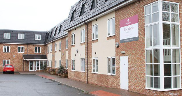 The Maple Care Home in Stockton-On-Tees, Teesside outside of home