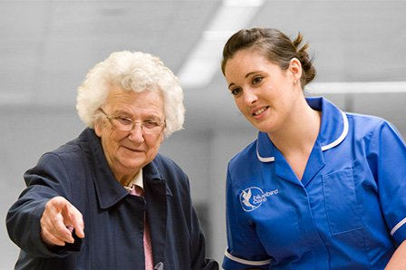 Bluebird Home Care in Kensington & Chelsea elderly lady with care giver