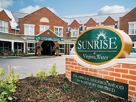Sunrise of Virginia Water Care Home in Virginia Water front exterior